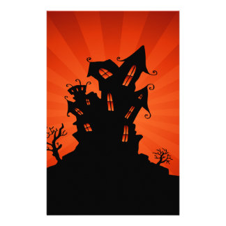 Halloween Haunted House Stationery