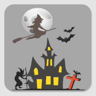 Halloween Haunted House Sticker