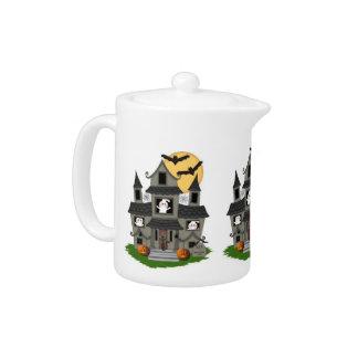 Halloween Haunted House Teapot