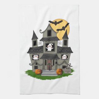 Halloween Haunted House Towels