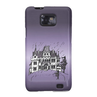 Halloween Haunted House With A Purple Background Galaxy SII Case