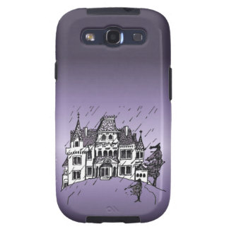 Halloween Haunted House With A Purple Background Galaxy SIII Case