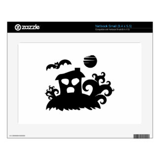 Halloween Haunted House with Bat Skins For Small Netbooks