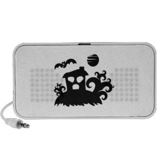 Halloween Haunted House with Bat Portable Speaker