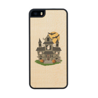 Halloween Haunted House Wood iPhone SE/5/5s Case