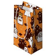 Halloween Haunted Houses Small Gift Bag