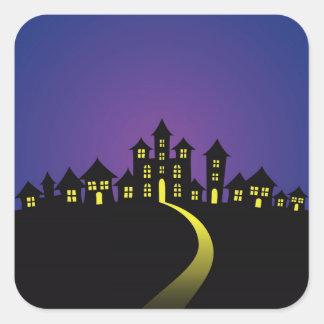 Halloween Haunted Houses Stickers