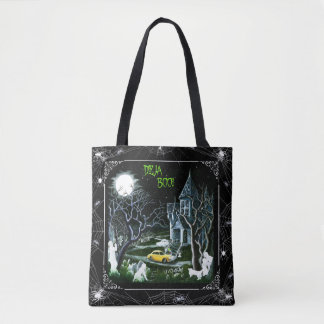 Halloween haunted mansion tote bag,ghosts