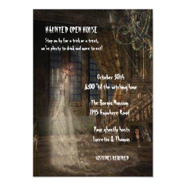 Halloween Themed Halloween Haunted Open House Card