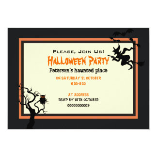 """Halloween Haunted Place Party Invitation 5"""" x 7"""""""