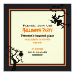 "Halloween Haunted Place Party Invitation Square 5.25"" Square Invitation Card"