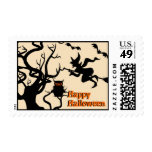 Halloween Haunted Place Postage Stamp