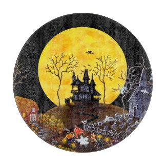 Halloween haunted town,Keep Running Cutting Board