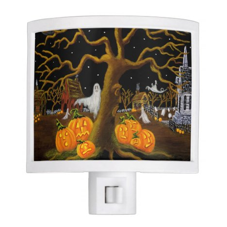 Halloween haunted village night light