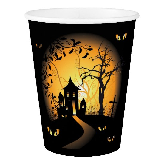 Halloween - Haunting Eyes Watching You Paper Cup