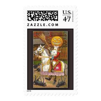 Halloween Headless Horseman Postage Stamp