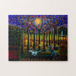 """Halloween,Headless,Horseman,Sleepy,Hallow Jigsaw Puzzle<br><div class=""""desc"""">This is one of those puzzle who just have to have ..The headless horseman chasing poor terrified Ichabod Crane through the woods of Terrytown. This is my imagining of the scene in The Legend of Sleepy Hallow. Art titled &quot;The Headless Horseman of Hudson Valley&quot; by Christine Altmann</div>"""