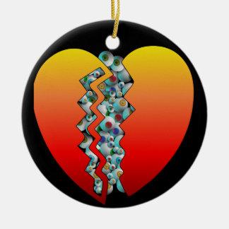 Halloween Heart Eyeballs Christmas Ornaments