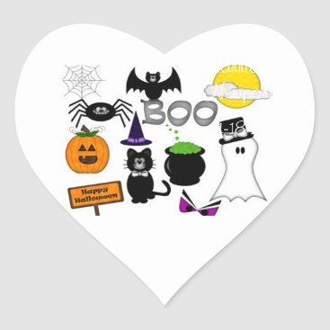 Beach Themed Halloween | Heart Stickers