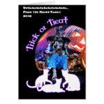 Halloween - Heeler - B'Elanna azules Tarjeton