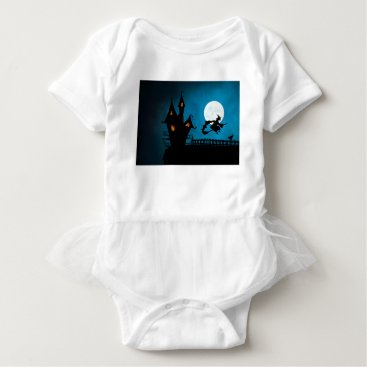 Halloween Themed Halloween Helloween Witch's House The Witch Baby Bodysuit