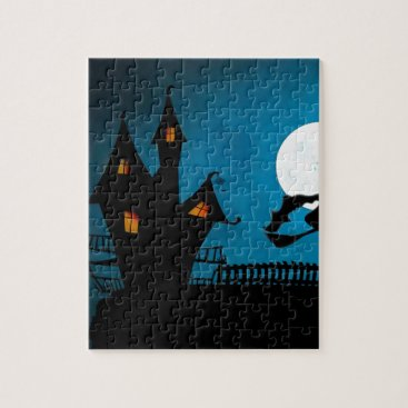 Halloween Themed Halloween Helloween Witch's House The Witch Jigsaw Puzzle