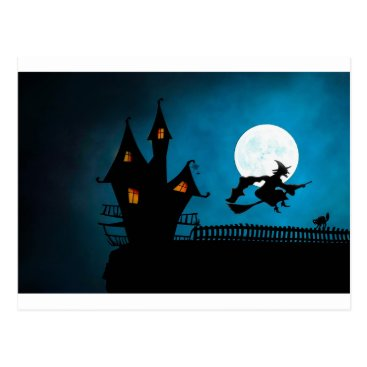Halloween Themed Halloween Helloween Witch's House The Witch Postcard