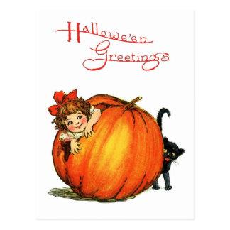 Halloween Hide and Seek Postcard