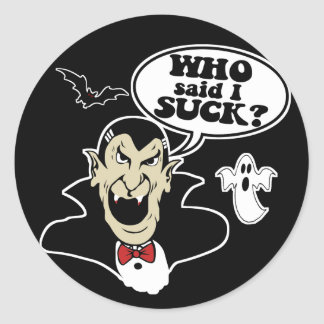 Halloween hilarante etiquetas redondas