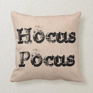 Halloween Hocus Pocus witch burlap Throw Pillow