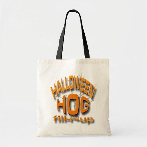 Halloween Hog Canvas Bags