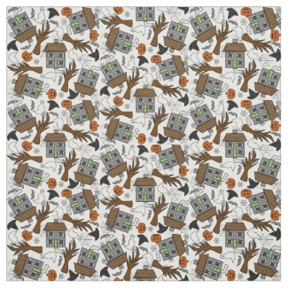 Halloween Holiday Custom Fabric
