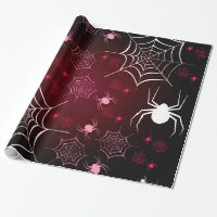 Halloween Holiday Custom Retro Spiders Wrapping Paper