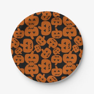 Halloween Holiday Paper Plates