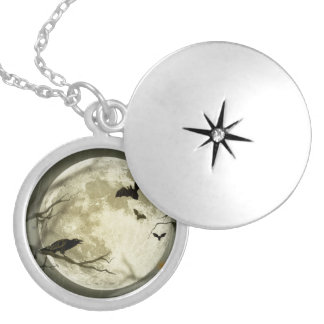 Halloween holidays mystery with fairy tale moon necklaces