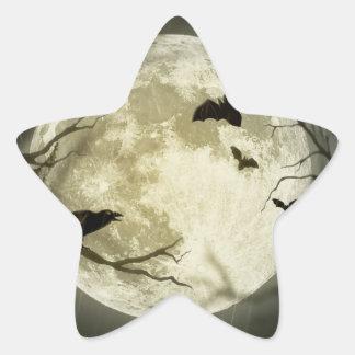 Halloween holidays mystery with fairy tale moon star sticker