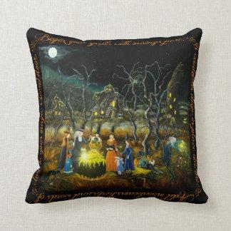 "Halloween home decor pillow ""The Lesson"""