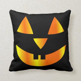 halloween home decor, pumpkin face throw pillow