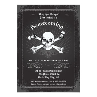 Halloween Homecoming Pirate Party Invitation