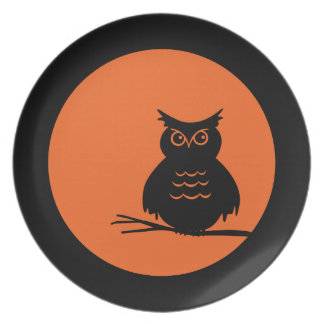 Halloween Hoot Owl Party Plate