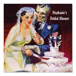 Halloween Horror Bride & Doom Bridal Shower Card