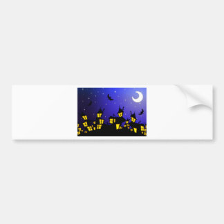 Halloween horror City Bumper Sticker
