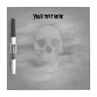 Halloween horror ghostly skull dry erase boards