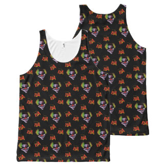 halloween horrorclown pattern All-Over-Print tank top