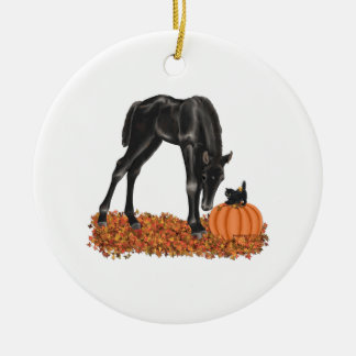 Halloween Horse Colt Kitty Ceramic Ornament