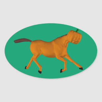 Halloween Horse Oval Sticker