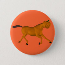 Halloween Horse Pinback Button