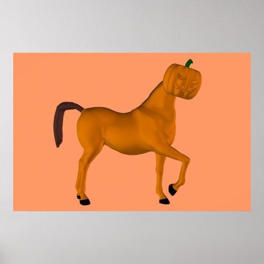 Halloween Horse Poster