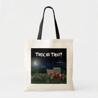 Halloween Horse Tote Bag bag