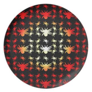 Halloween Hotspot Color Spiders Dinner Plate